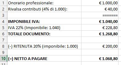 La registrazione delle fatture emesse da professionisti for Registrazione preliminare di vendita